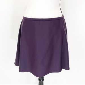 Ann Cole purple skirted bathing suit cover up L